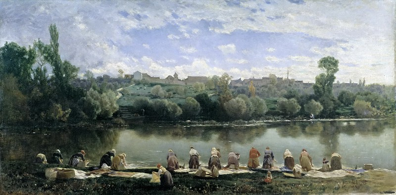 прачки на реке