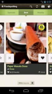 Блюда национальной кухни в программе Foodspotting
