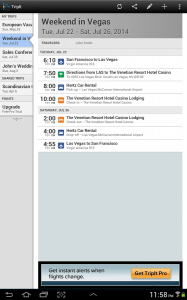 Программа по планированию путешествий TripIt