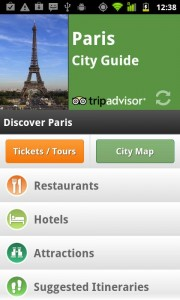 Интерфейс программы TripAdvisor