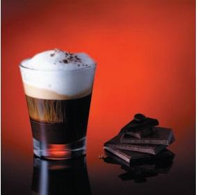 Пример приготовления слоистого эспрессо с шоколадом