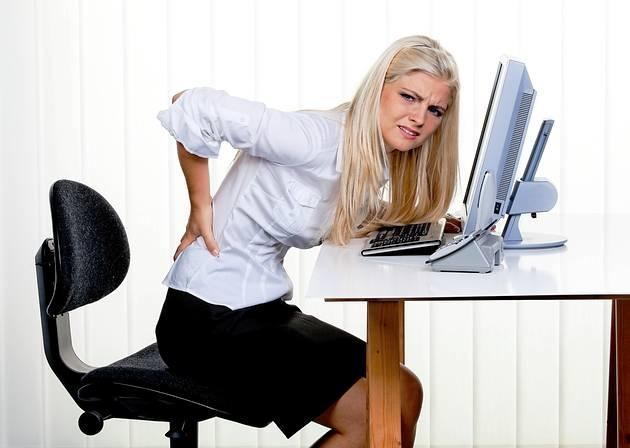 боль в спине при длительном использовании компьютера