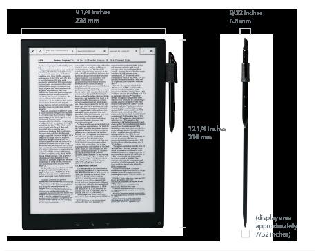 Гигантская читалка и электронная тетрадь от Sony
