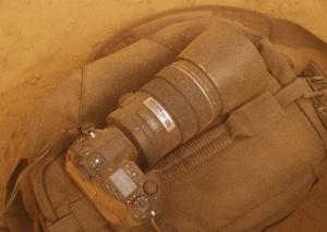 Пыльный фотоаппарат