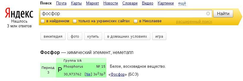 Yandex химик