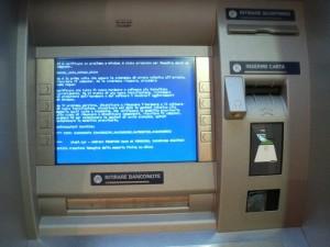 """И в банкоматаха бывают """"экраны смерти"""""""