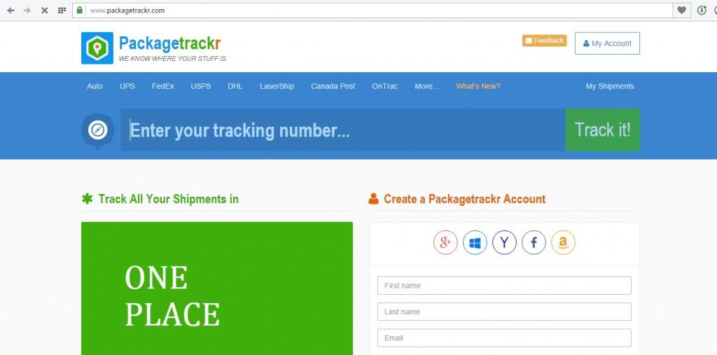 Сайт для отслеживания посылок из Китая packagetrackr