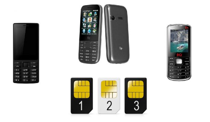 телефоны с тремя сим картами